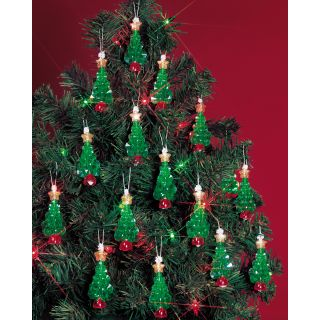 Holiday Beaded Ornament Kit Mini Trees 2 1/4 Makes 24 Today $9.99
