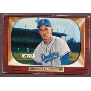 1955 Bowman #196 Russ Meyer Dodgers VG EX 184952 Kit Young