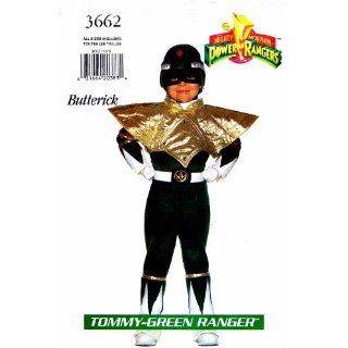 Butterick 3662 Sewing Pattern Tommy Green Power Ranger Costume Size 4