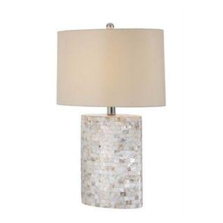 Seashore Commemorative While Shell Table Lamp