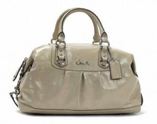 Coach Ashley Patent Large Satchel 15454 Putty Shoes