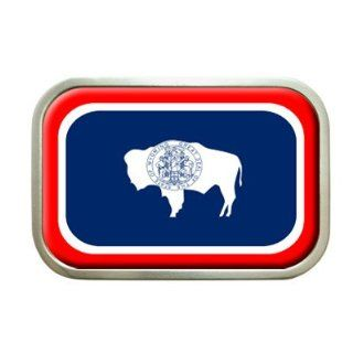 Wyoming State Flag Belt Buckle Everything Else