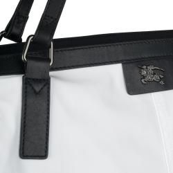 Burberry 3756551 Small White Nylon Tote Bag