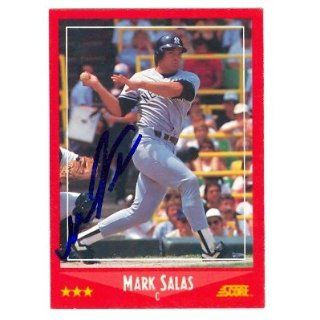 Salas autographed baseball card (New York Yankees) 1988 Score #232
