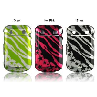 Luxmo BlackBerry Bold Touch/ 9900 Zebra and Star Protector Case