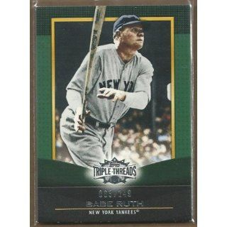 2011 Topps Triple Threads Emerald #27 Babe Ruth 63/249 Collectibles
