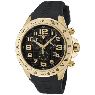 Swiss Legend Mens Eograph Black Silicon Watch