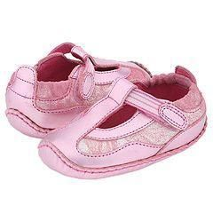 Stride Rite Milena T Strap Stage 1 (Infant) Pink Suede/Leather