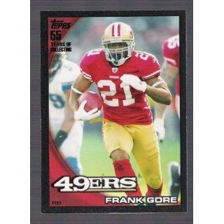 FRANK GORE 2010 Topps #257 BLACK PARALLEL Card #54 of only