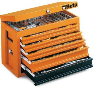 Beta C23 O Portable Tool Chest, with 5 Drawers, Orange