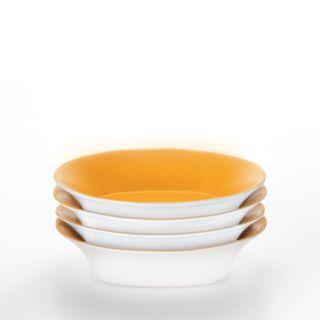 Rachael Ray Round and Square 4 piece Lemon Zest Pasta Bowl