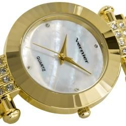 Vernier Womens Gold Tone Elegant Chain Bracelet Watch