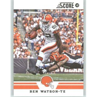 2012 Score Football Card #282 Ben Watson   Cleveland Browns (NFL