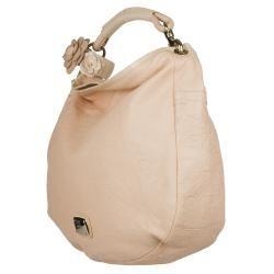 Jimmy Choo Pink Leather Hobo Bag