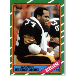 1986 Topps # 283 Walter Abercrombie Pittsburgh Steelers Football Card