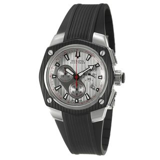 Bulova Accutron Mens Corvara Rubber Strap Chronograph Watch