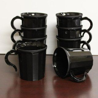 Case 288   Black Plastic Coffee Mug Disposable / Reuseable
