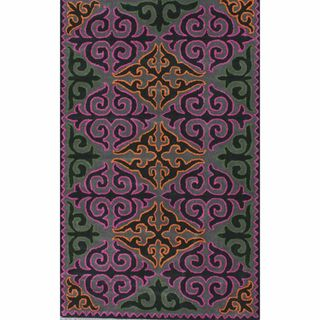 Rug Collective Handmade Spanish Tile Trellis Multi Wool Rug