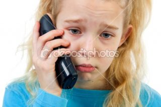 Sad girl on the phone  Stock Photo © Sandra van der Steen #2270900