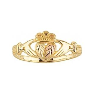 Beautiful! Yellow gold Black Hills Gold Womens Claddagh Ring