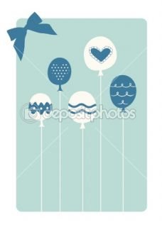 Vector balloon birthday card design  Stock Vector © jinru huang