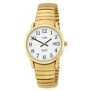 Timex Mens T2H301 Easy Reader Gold Tone Expansion Band Watch Watches
