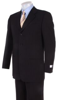 Armani Mens Navy Pinstriped 3 Button Suit