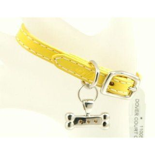 Lisa Welch Yellow Leather Charm Bracelet Sterling Silver