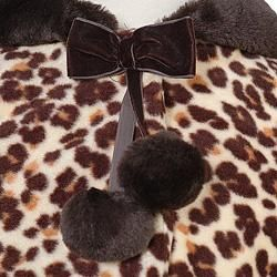 Bonnie Jean Girls Brown Leopard Hooded Fleece Coat