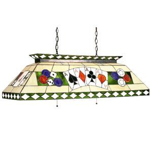 RAM 44 Poker Themed Stained Glass Pool Table Light