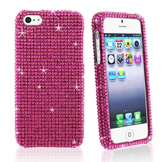 BasAcc Full Hot Pink Diamond Snap on Case for Apple iPhone 5