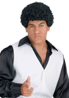 Jheri Curl Black Wig: Clothing