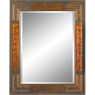Rectangular 36x48 Framed Cherry Gold Wall Mirror