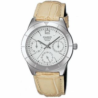 Casio Womens Calendar Sub dials Silvertone Analog Watch