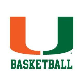 Miami Hurricanes BASKETBALL Clear Vinyl Decal Car Truck