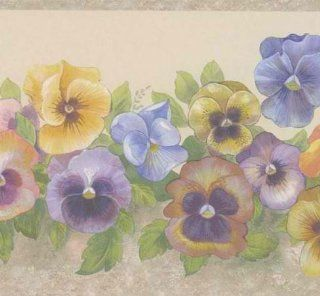 Grey 418B324 Colorful Small Floral Trail Wallpaper Border