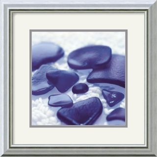 Celia Pearson Sea Glass   Cobalt Framed Art Print