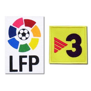 Barcelona LFP Laliga + TV3 Spanish League Iron On Soccer