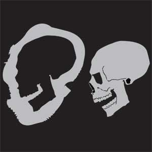 Custom Skull Stencil #6 Side Open Airbrush Stencil Template :