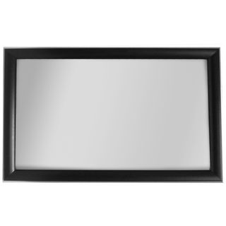 Alpine Art & Mirror Cypress Collection Black/ Silver Trim Wall Mirror