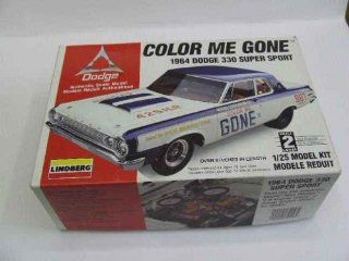 Lindberg Color Me Gone 1964 Dodge 330 Stock Car Toys & Games