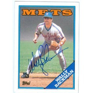 Backman autographed baseball card (New York Mets) 1988 Topps #333
