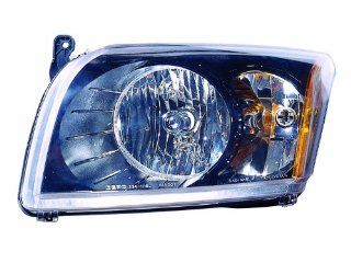 Depo 334 1118P AS2 Dodge Caliber Headlight Assembly Set with Black