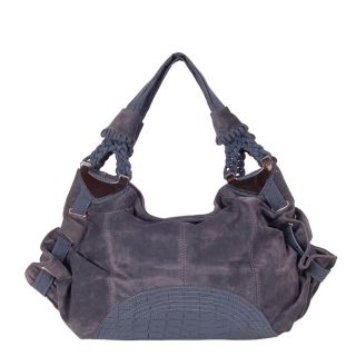 Candice Blue Faux Leather Hobo Bag