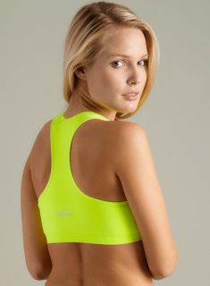 Spalding Seamless Sports Bra In Yellow