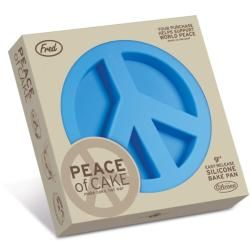 Fred & Friends Blue Silicone Peace of Cake Cake Mold