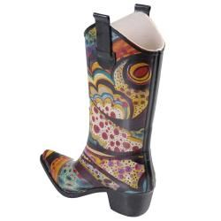 Journee Collection Womens Cowboy Style Fashion Rainboots