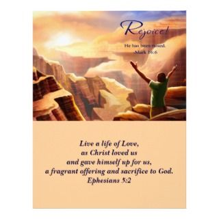 is Risen! Easter Church Bulletins Custom Letterhead