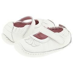 Stride Rite Lil Valerie (Infant) White Leather Slip ons