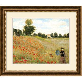 Claude Monet Poppies at Argenteuil, 1873 Framed Art Print